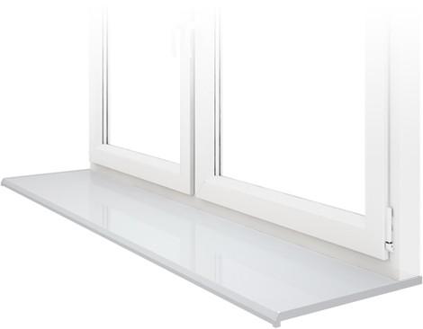 Подоконник DANKE, Satin Bianco – белый мат, ширина 100 мм.