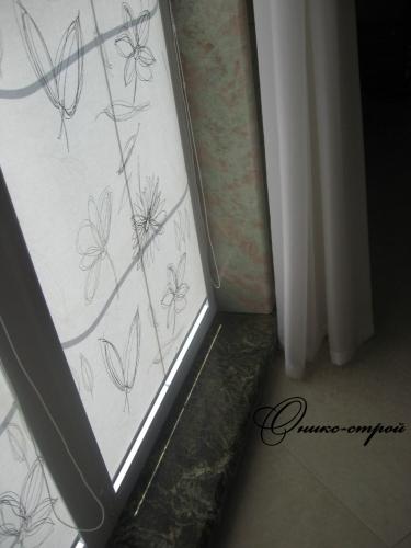Подоконник и откосы мраморные. Изготовление и монтаж подоконников из натурального камня (мрамор, гранит.)