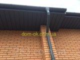 Фото  1 Підшивка покрівлі з металевого сайдингу колір чорний RAL 9005 2300989
