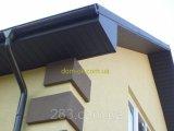 Фото  7 Подшивка кровли из металлического сайдинга цвет- черный RAL 9005 МАТ 0,43 Украина 2300989