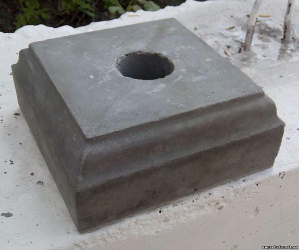 Подставка под балясину размеры - 195*195*80 мм, вес 4 кг
