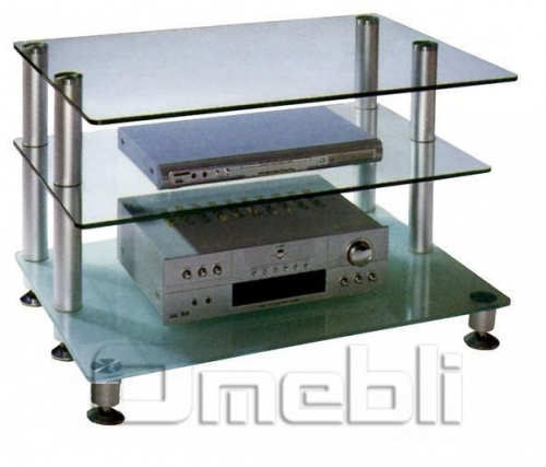Подставка под ТВ TV F-13 стекло прозрачное A10193