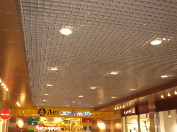 Подвесные алюминиевые потолки Грильято Премиум 50*50мм (Н=50 мм)