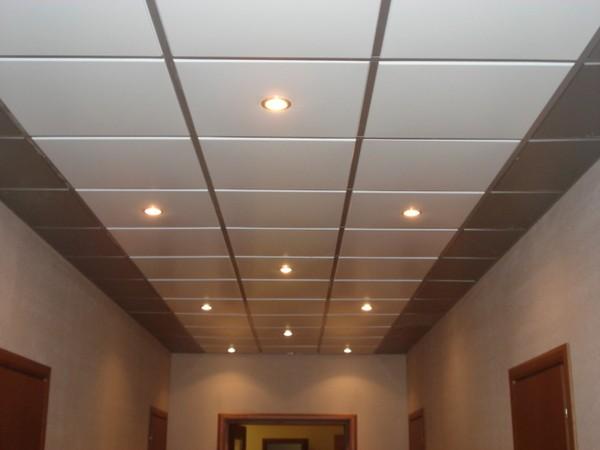 Подвесной касетный алюминиевый потолок