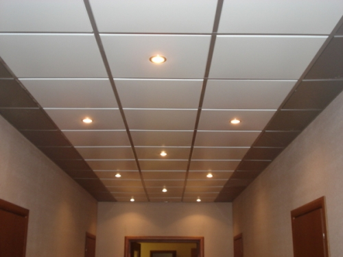 Подвесной потолок типа Армстронг. Просчет, полная комплектация: Плита, профиль, крепеж.