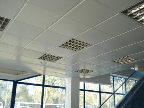 Подвесной потолок типа Армстронг. Расчет и монтаж потолка на любые помещения. Светильники Spark 60x60. Доставка
