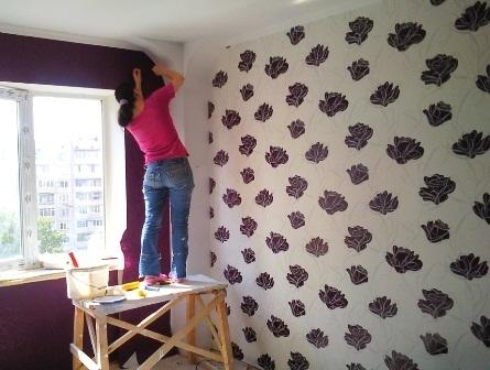 Покраска потолка и стен Киев Шпаклевка, багеты