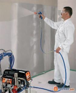 Покраска стен и потолков механизированным способом