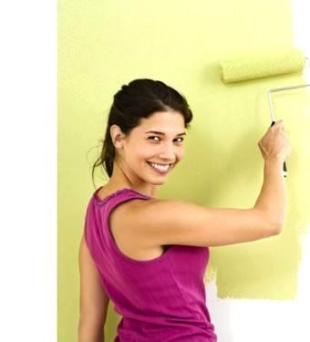 Покраска стен Окраска водоэмульсионной краской, шпатлевка