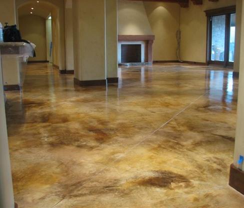 Пол для частного дома. Шлифованный бетон