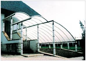 поликарбонат сотовый DANPALON толщиной 8мм, 10мм, 12мм, 16мм