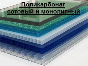 Сотовый и монолитный поликарбонат - фото