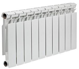 Полнобиметаллический секционный радиатор TENRAD BM 350 можно установить как в небольшом загородном доме