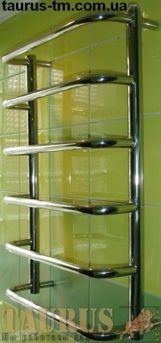 Полотенцесушитель из нержавеющей стали Modern 6/500 (650х500) Hижнее подключение, Боковое 1/2 и 1 дюйм. Доставка