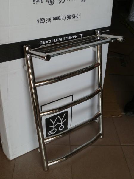 """Полотенцесушитель из нержавеющей стали. Модель """"Лестница квадрат"""" высота650/количество пермычек 4/ширина 500"""