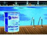 Фото 1 Фарба ISAVAL хлоркаучук 4 л блакитний, білий - для бетонних басейнів 326601