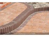 Фото  2 Поребрик фигурный круглый (цветной на сером цементе) 2942807