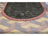 Фото  3 Поребрик фигурный круглый (цветной на сером цементе) 3943807