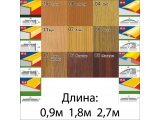 Фото  2 Порожки алюминиевые разноуровневые ламинированные П-3 25х20 каштан 0,9м 2234778