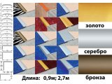 Фото  2 Порожки со скрытым креплением анодированные 40мм золото 2,7м 2234672