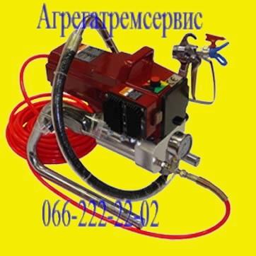 Поршневой покрасочный агрегат Airless 6740i, 1,3 кВт, 3 л/мин, шланг до 60 метров, мах сопло 0,025 дюйма.