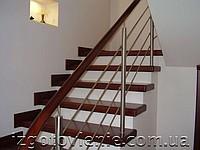 Поручень 42,4мм Стойка 32мм Заполнение (леера) 10-12мм С деревянным поручнем Цена указана до 4 пог. м.