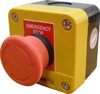 """Пост одноместный """"Аварийный Стоп"""" XAL-J174, XAL-J178. Кнопки безопасности (автоматически блокирующиеся)"""