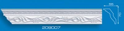 Потолочный плинтус 209007. Высококачественные плинтуса из вспененного полистирола. Длина 200 см. Цена за штуку.