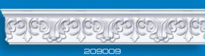 Потолочный плинтус 209009. Высококачественные плинтуса из вспененного полистирола. Длина 200 см. Цена за штуку.
