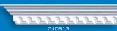 Потолочный плинтус 210513. Высококачественные плинтуса из вспененного полистирола. Длина 200 см. Цена за штуку.
