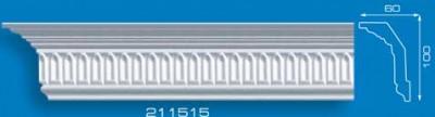 Потолочный плинтус 211515. Высококачественные плинтуса из вспененного полистирола. Длина 200 см. Цена за штуку.