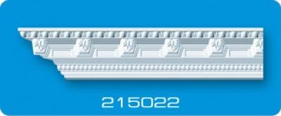 Потолочный плинтус 215022. Высококачественные плинтуса из вспененного полистирола. Длина 200 см. Цена за штуку.