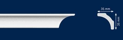 Потолочный плинтус A-5. Высококачественные плинтуса из вспененного полистирола. Длина 200 см. Цена за штуку.