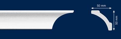Потолочный плинтус A-7. Высококачественные плинтуса из вспененного полистирола. Длина 200 см. Цена за штуку.