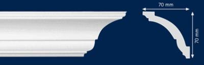 Потолочный плинтус As. Высококачественные плинтуса из вспененного полистирола. Длина 200 см. Цена за штуку.