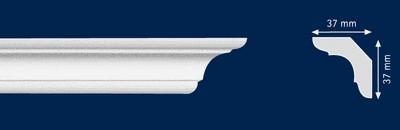 Потолочный плинтус C-50. Высококачественные плинтуса из вспененного полистирола. Длина 200 см. Цена за штуку.