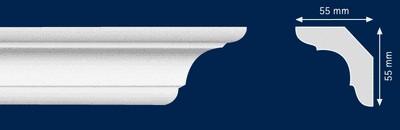 Потолочный плинтус C-70. Высококачественные плинтуса из вспененного полистирола. Длина 200 см. Цена за штуку.