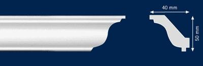 Потолочный плинтус H-O. Высококачественные плинтуса из вспененного полистирола. Длина 200 см. Цена за штуку.