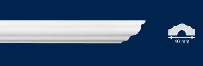 Потолочный плинтус i40. Высококачественные плинтуса из вспененного полистирола. Длина 200 см. Цена за штуку.
