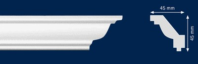 Потолочный плинтус j-O. Высококачественные плинтуса из вспененного полистирола. Длина 200 см. Цена за штуку.