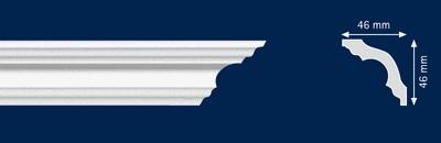 Потолочный плинтус K-50N. Высококачественные плинтуса из вспененного полистирола. Длина 200 см. Цена за штуку.