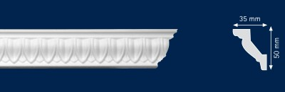 Потолочный плинтус Pamella. Высококачественные плинтуса из вспененного полистирола. Длина 200 см. Цена за штуку.