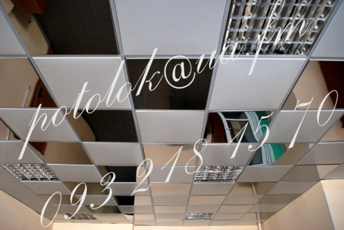 Потолок металлический и алюминиевый с покрытием RAL (кассета 600*600, рейка)