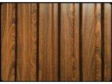 Фото  1 Профнастил под дерево, декорированый. Хорошее решение для подшивы и установки забора. 2272353