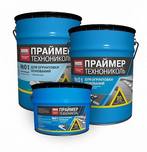 Праймер битумный (готовый) ТехноНИКОЛЬ №01; 20 л.