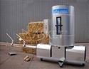 Пресс брикетировщик Biomasser для производства топливных брикетов из соломы