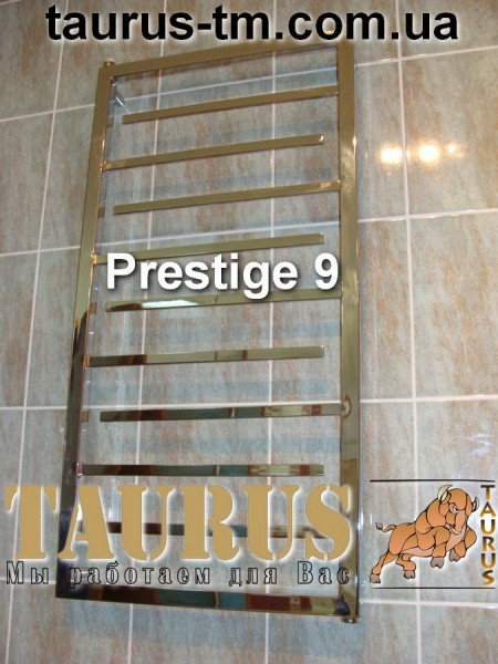 Prestige 9 / 500 - полотенцесушитель из нержавеющей стали для ванной комнаты. Изготовление размеров под заказ. Доставка.