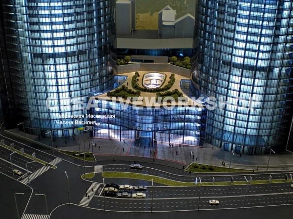 Презентационный макет многофункционального комплекса Mirax Plaza