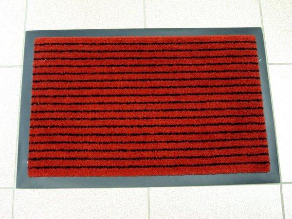 Фото  1 Придверный грязезащитный коврик на резиновой основе с окантовкой Condor Entree 40х60, красный 2134977