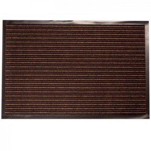 Фото  1 Придверный грязезащитный коврик на резиновой основе с окантовкой Condor Entree 40х60, коричневый 2134978